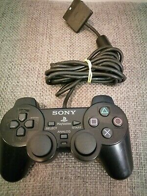 Ps2 Mando Negro Original Dual Shock Ps2 Psx Playstation