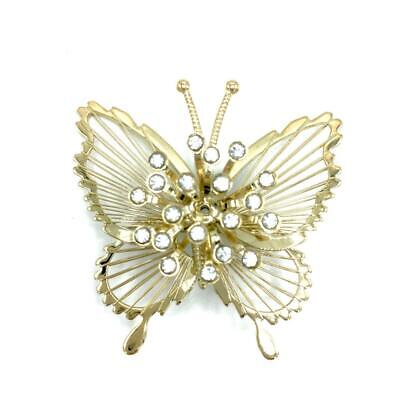 20 PIECES Vintage Signed MONET CRYSTAL PINS BUTTERFLY GOLD-TONE FINISH