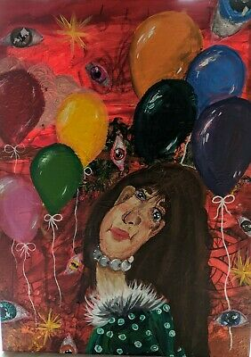 """""""The Party Favour"""" 18in X 24in Interpretive Acrylic Painting"""