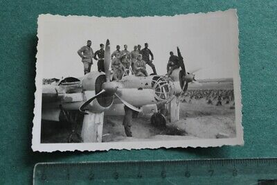Foto Photo X WW2 WK2 Luftwaffe Flugzeug Bomber Jäger Airforce Fighter Bomber
