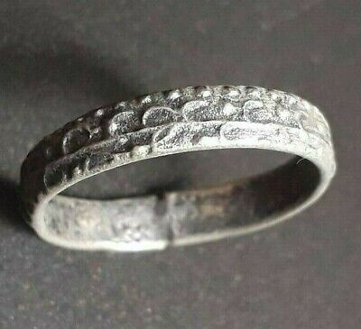 Norse Wedding Jewelry Ancient Ring Viking Old Silver Artifact Antique Unique