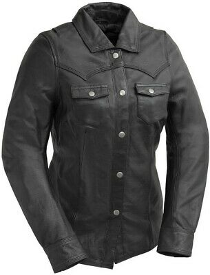 First Manufacturing ONYX - Women's Naked Cowhide Leather Riding Shirt - X-Large