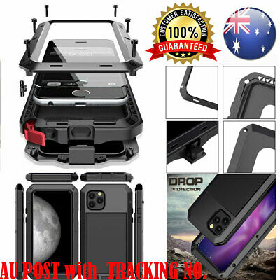 HEAVY DUTY Shockproof Bumper Metal Cover Case F iPhone 11 6s 7 8 Plus XR XS MAX