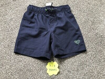 Brand New With Tags Primark Boys Navy Swim Shorts  7-8 Years