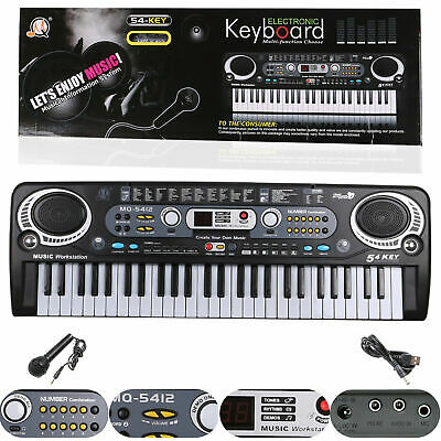 Musical Keyboard Piano 54keys Electronic Electric Digital Beginner Adult Gift