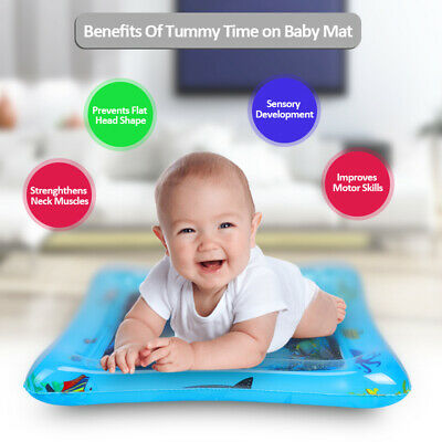 Inflatable Baby Water Mat Novelty Play for Kids Children Infants Tummy Time US