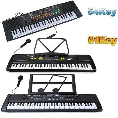 54/61 Key Music Electronic Keyboard Electric Digital Piano Organ with Microphone