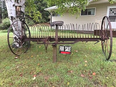 Antique Horse-Drawn Hay Rake Near Marquette, Michigan. Offers Considered.