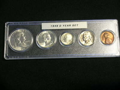 1948-D US Silver mint set 5 Choice BU coins in Whitman plastic holder