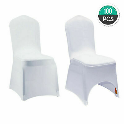 100//50 White Covers Spandex Chair Cover Wedding Banquet Party ARCHED FRONT