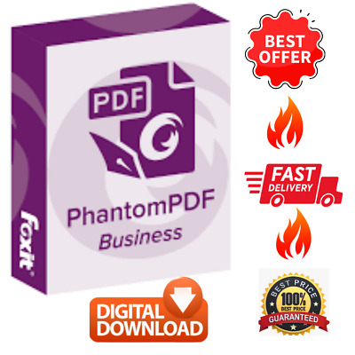 Foxit Phantom PDF Business Version 9.7 Activated Editor Creator Converter Reader