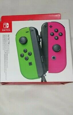 EMPTY BOX ONLY - Official Nintendo Switch Joy-Con Packaging -Green/Pink