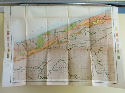 1877 OHIO RAIL MAP CUYAHOGA River LAKE ASHTABULA ERIE COUNTY Fairport Harbor BIG