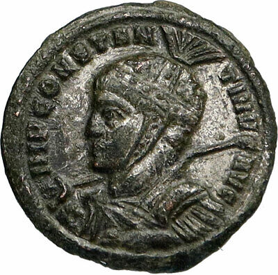 CONSTANTINE I the Great Authentic Ancient 318AD Genuine Roman Coin ALTAR i84761