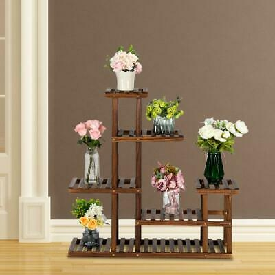 Wooden Fishbowl Display Vase Pot Tall Planter Stand Plant Pot Display Stand ...
