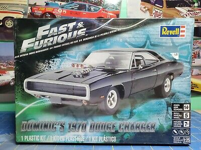 REVELL FAST & Furious Dominic's 1970 Dodge Charger Plastic