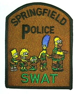 SPRINGFIELD POLICE SWAT TEAM NOVELTY PATCH THE SIMPSONS