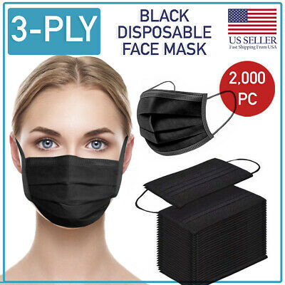 Disposable 3-Ply Face Mask 2000 PCS Medical Surgical Ear-Loop Mouth Cover