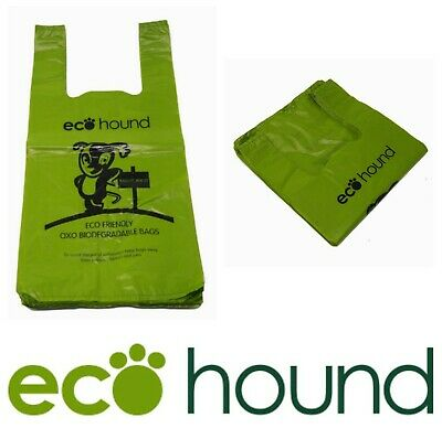 Ecohound Green Large Vest Dog Poo Bags Unscented | 250 bags