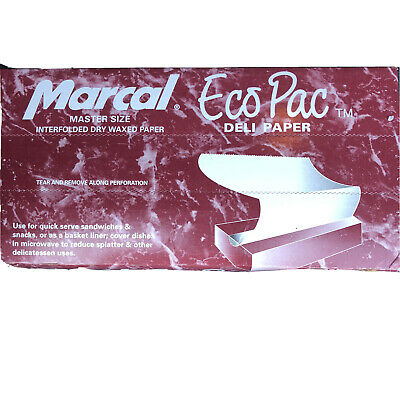 "(500 SHEETS) DELI PAPER 12"" x 10.75"" DRY WAX USA MADE  MARCAL Free Ship Prioirt"
