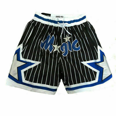 Blue Orlando Magic Men/'s Basketball Shorts Vintage 1992-1993 Stitched Black