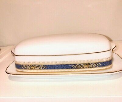 Noritake Golden Wave Covered Butter Dish 80 00 Picclick