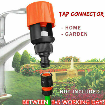 UK Universal Tap Connector Adapter Mixer Garden Kitchen Fi Hose Pipe Joiner O2Q1