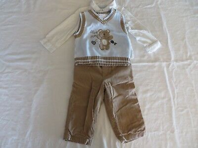 Christmas Theme Only Kids Baby Boys 3-Pc Sweater Vest LS Shirt Pants