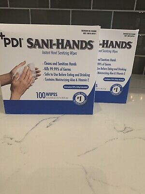2 PACK - Sani Hands 100/box Sani cloth