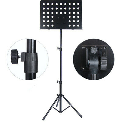 Orchestral Sheet Music Stand Heavy Duty Conductor Foldable Adjustable Tripod UK