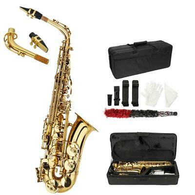 New Beginner Practice Alto Eb Saxophone Sax with Case Mouthpiece Accessories