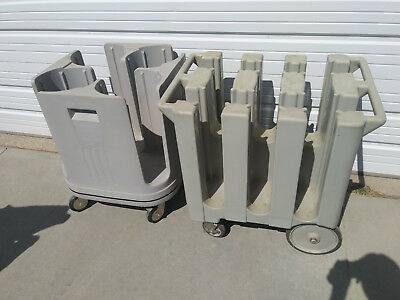 """Dish dolly carts (2) Metro PCD11 and CAMBRO 575, for 5.75 and 11"""" dishes"""