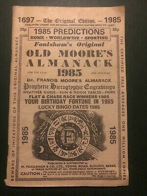 Irish psychic who predicted Covid-19 pandemic and Donald Trump's election defeat says life will return to normal by summer 2021 Old-Moores-Almanac-1985-Paperback-Foulshams-Original-Predictions