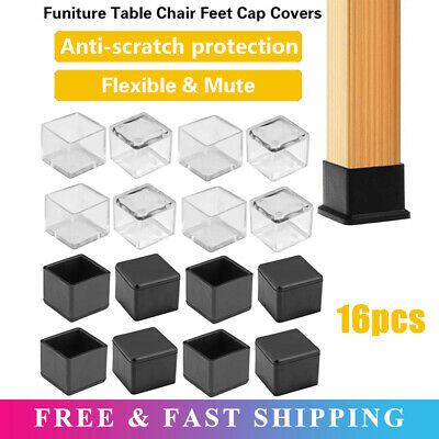 Details about  /16pcs Silicone Rubber Chair Leg Feet Pads Furniture Covers Floor Protector UK