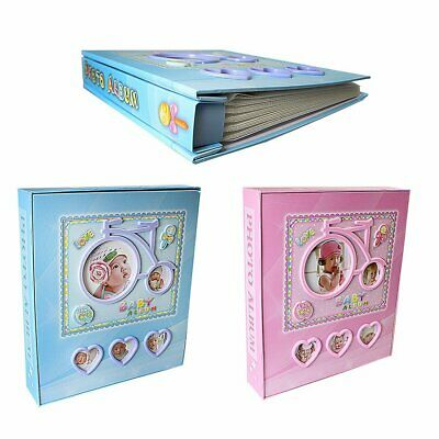 Bicycle Design Love Photo Album for New Baby Pink/Blue Album - 80 4 x 6 Photo's