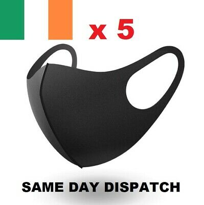 Face Mask Reusable & Washable x 5 Same Day Dispatch Retail Pack