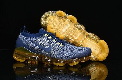 Nike Air VaporMax Flyknit 3 Men's Shoes Yellow and Blue