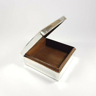 Sterling Silver Timber Inlaid Box c.1935