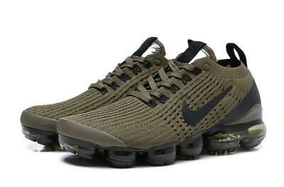NIKE AIR VaporMax 2019 Flyknit 3 Army Green With Black LOGO Running Shoes
