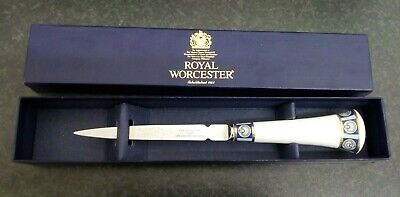 Royal Worcester letter opener in box 7B #1389