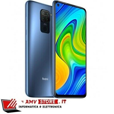 "Xiaomi Redmi Note 9 6.53"" 128GB 4GB Midnight Grey DualSim Nuovo 24 mesiGaranzia"
