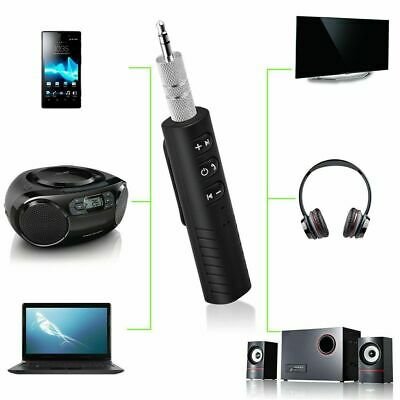 Handsfree Wireless Car Bluetooth Receiver 3.5mm AUX Music Stereo Audio Adapter.