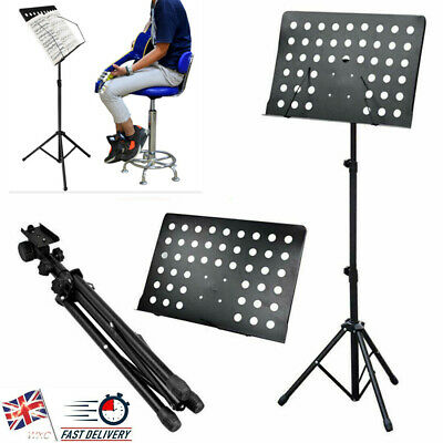Foldable Music Stand Holder Tripod Orchestral Conductor Sheet w/Carry Case