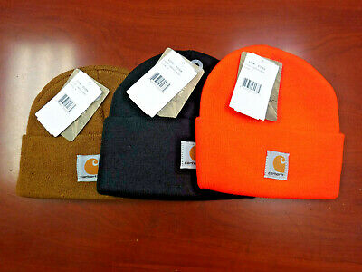 Lot of 3 Carhartt Child Kid Youth Acrylic Watch Hat Winter Beanie Knit  3 Colors