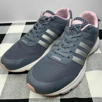 ADIDAS NEO CLOUDFOAM VS City Pink and Grey Athletic Sneaker B74520 ...