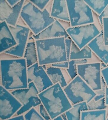 50 2nd Class Security Stamps Unfranked OFF PAPER