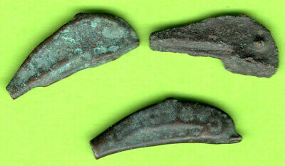 Sarmatia OLBIA Cast Proto Money DOLPHIN 5th BC Ukraine Russia Lot of 3 pc.65