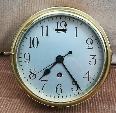 Brass cased SHIPS clock, works well