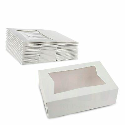 White  Bakery Box Sturdy Kraft Paperboard Auto-Popup Box Keeps Pastries Safe