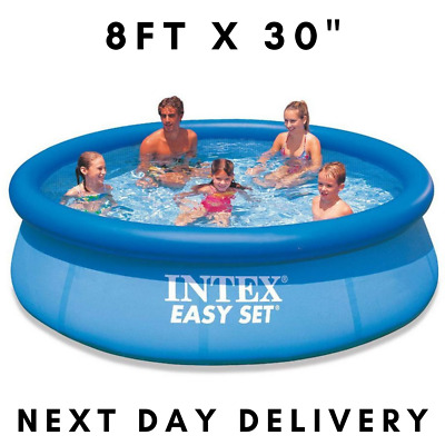 """Large Outdoor Family Swimming Pool Intex Easy Set 8ft x 30"""" Next Day Delivery"""